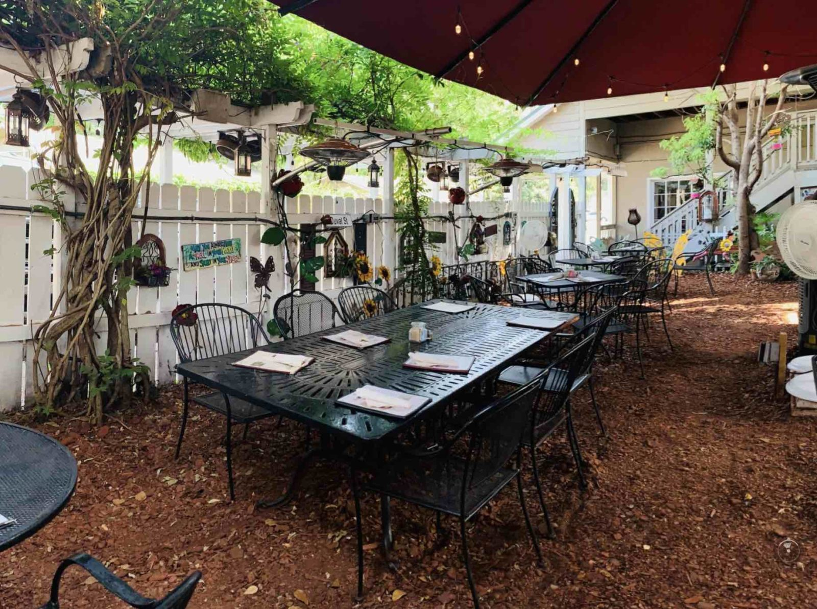 Lowcountry Backyard's outdoor seating area